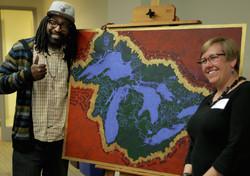 Great Lakes Basin painting