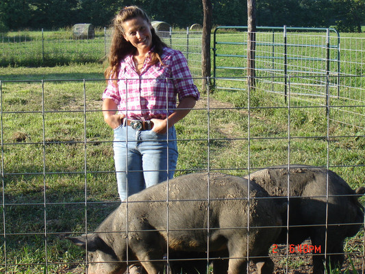 I dig pigs! I spent a lot of time with them. The gate is open and they don't run away.
