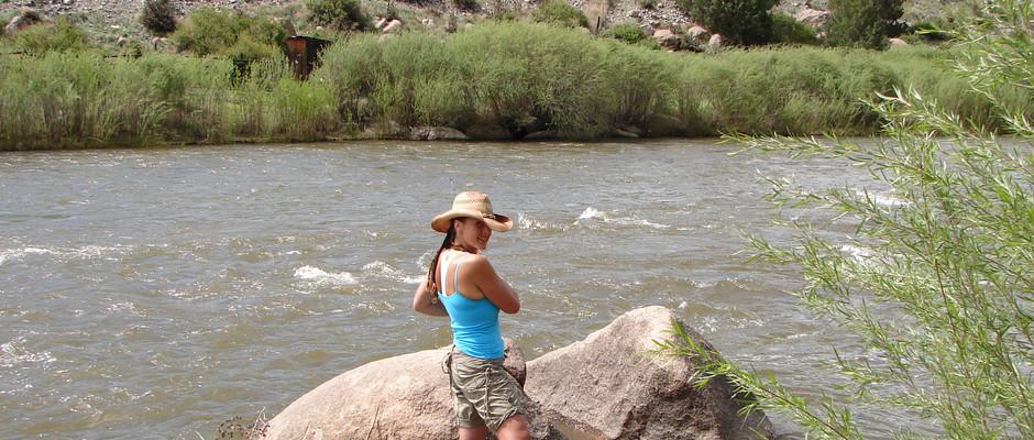 Trout fishing Cotopaxi, Colorado in the Arkansas River.