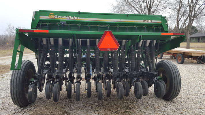 We rented a small seed drill to apply the seed.