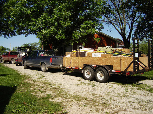 Loaded up and ready to move.