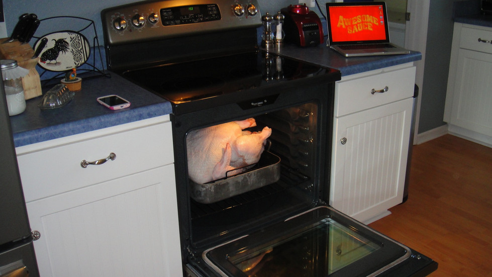 It filled the entire oven!