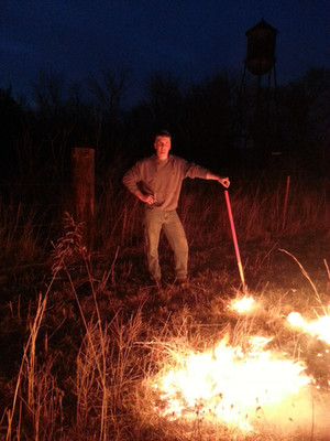 Occasionally, we would have to wait until sunset to burn when the winds died down. Burning after dark isn't recommended. Yes, you can see the fire and quickly put out embers, but fire-fighters can't see the lay of the land to travel safely, putting them and their equipment at risk in the event of an emergency.