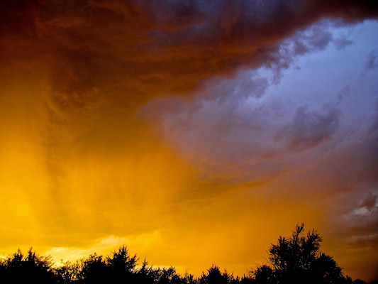 Kansas sky after a micro-burst that brought high winds and hail.