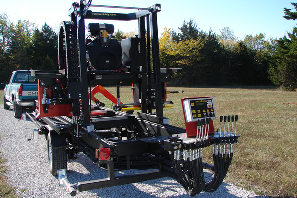 We were able to trade the TK1600 in for a fully hydraulic TK2000 that solved the problem of me not being able to lift things. Ronnie could run the mill with minimal help.