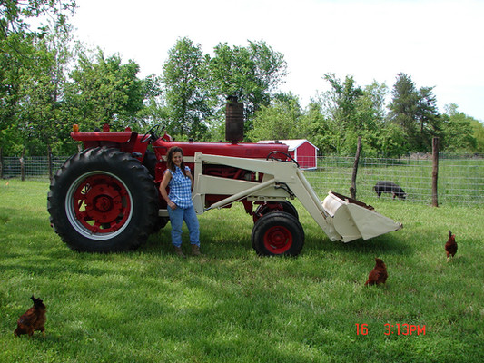 Our first tractor.