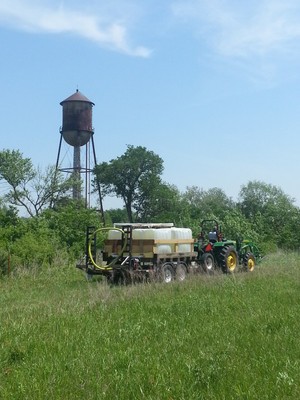 This was the first trip down to the creek with our new water wagon we built for hauling water a quarter mile up to the garden just off the county road.