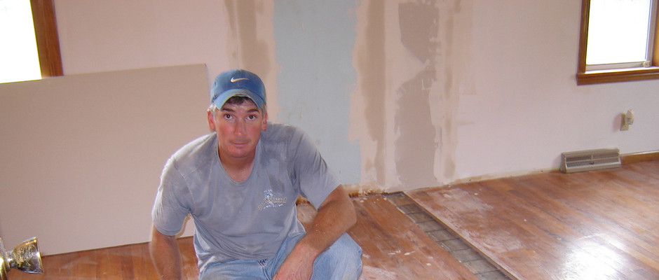 We started rehabbing the home right away. We knocked out walls and closets to make the master bedroom more livable.