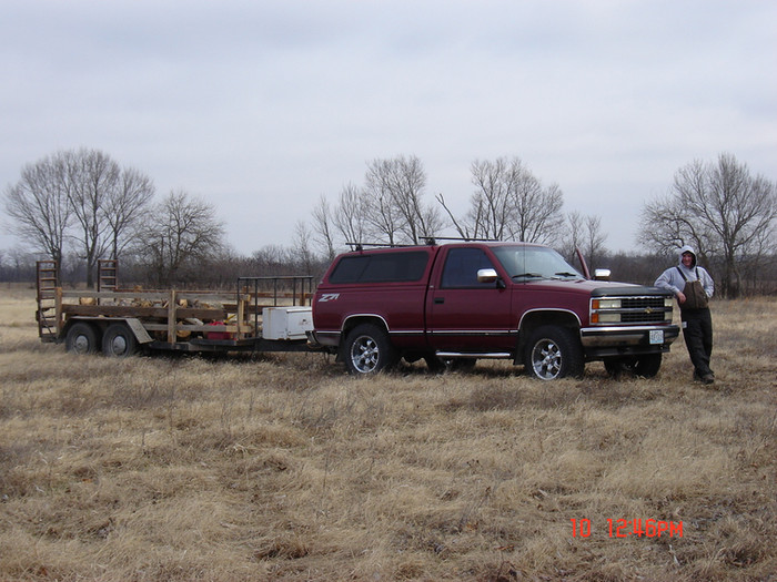 The old trailer we used to get firewood.