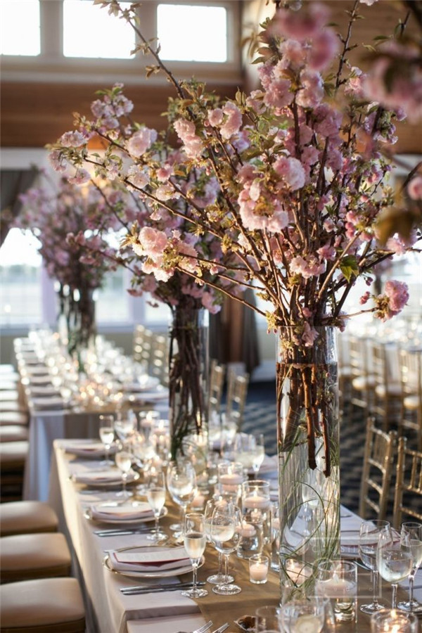 Gorgeous-Cherry-Blossoms-Tall-Tree-Wedding-Reception-Ideas
