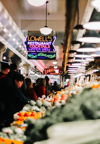 Nightime Produce - Pike Place Market - Seattle, WA