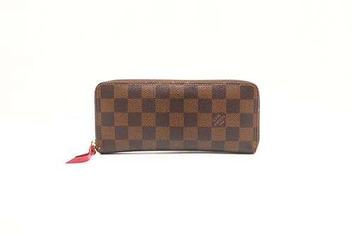 Louis Vuitton Clemence Long Wallet in Damier Ebene Canvas