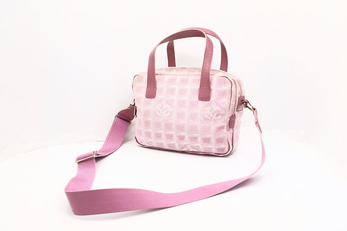 Chanel New Travel Line 2-way Bag in Pink Nylon