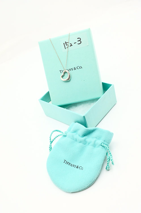 Tiffany & Co. Small Open Heart Necklace in Sterling Silver