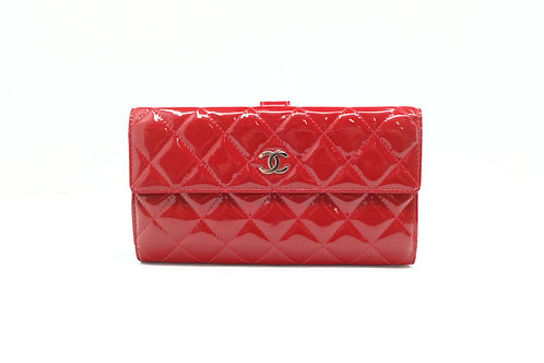 Chanel Matelasse Button Snap Wallet
