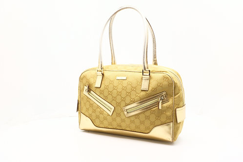 Gucci Hand Bag in Gold GG Canvas