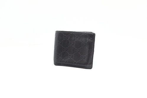Gucci Bifold Wallet in Black Guccissima Leather