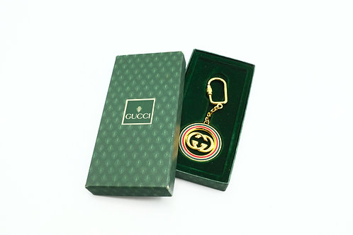 Gucci Sherry Line GG Bag Charm in Gold Tone Hardware