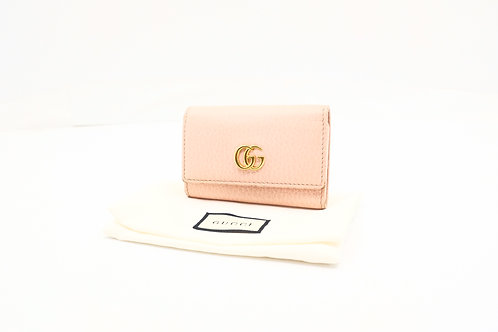 Gucci Marmont Key Case in Pink Leather