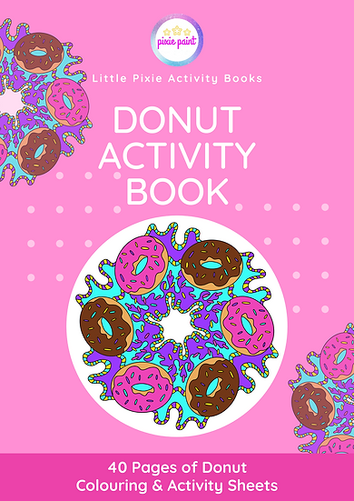 40 Page Donut Activity Book