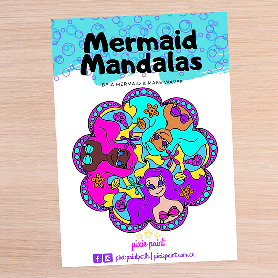 Mermaid Mandalas Colouring Book