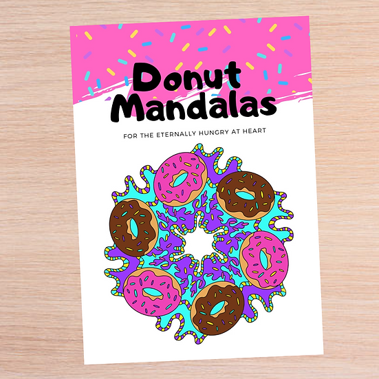 Donut Mandalas Colouring Book