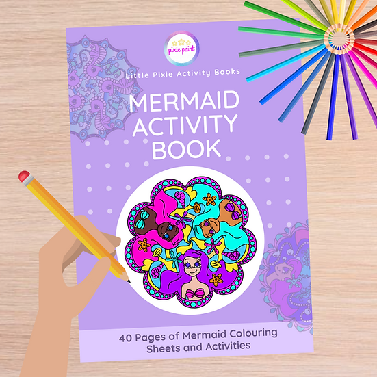 40 Page Mermaid Activity Book