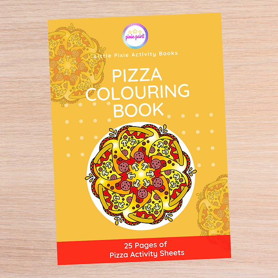25 Page Pizza Activity Book