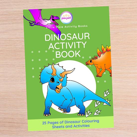 25 Page Dinosaur Activity Book