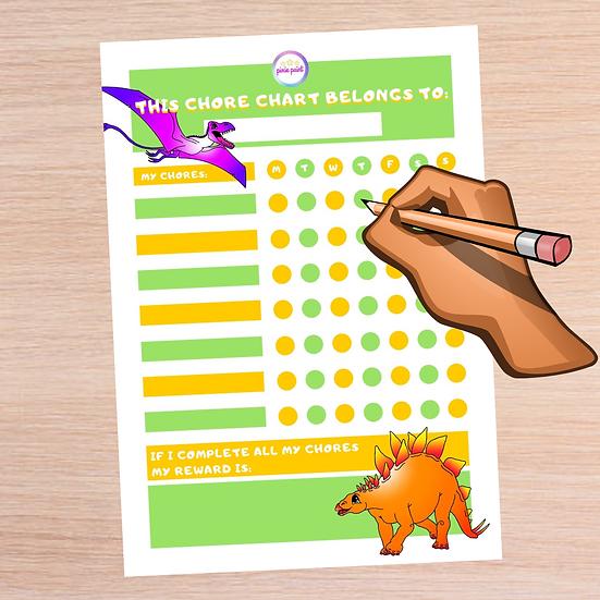 Printable Dinosaur Chore Chart