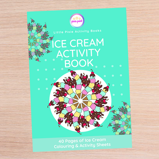 40 Page Ice Cream Activity Book