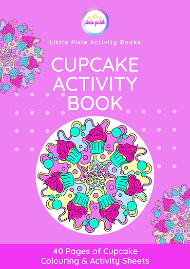 40 Page Cupcake Activity Book