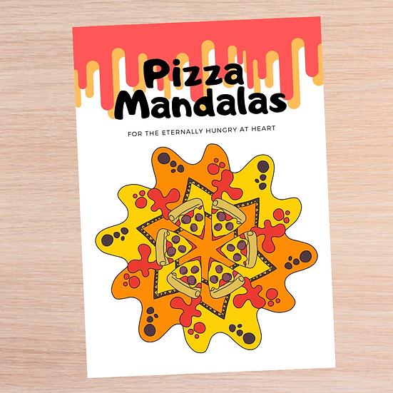 Pizza Mandalas Colouring Book