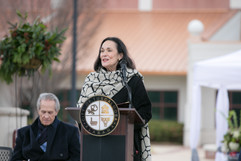 Cathy Randall Speaks at the Bicentennial Square Dedication Ceremony