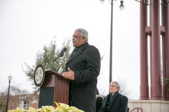Harrison Taylor Speaks at the Bicentennial Square Dedication Ceremony