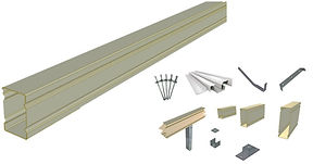 DeltaBeam and accessories for insulation panels.
