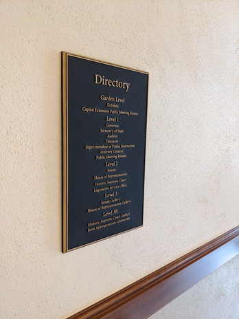 Directory Bronze Plaque, Wyoming State Capitol