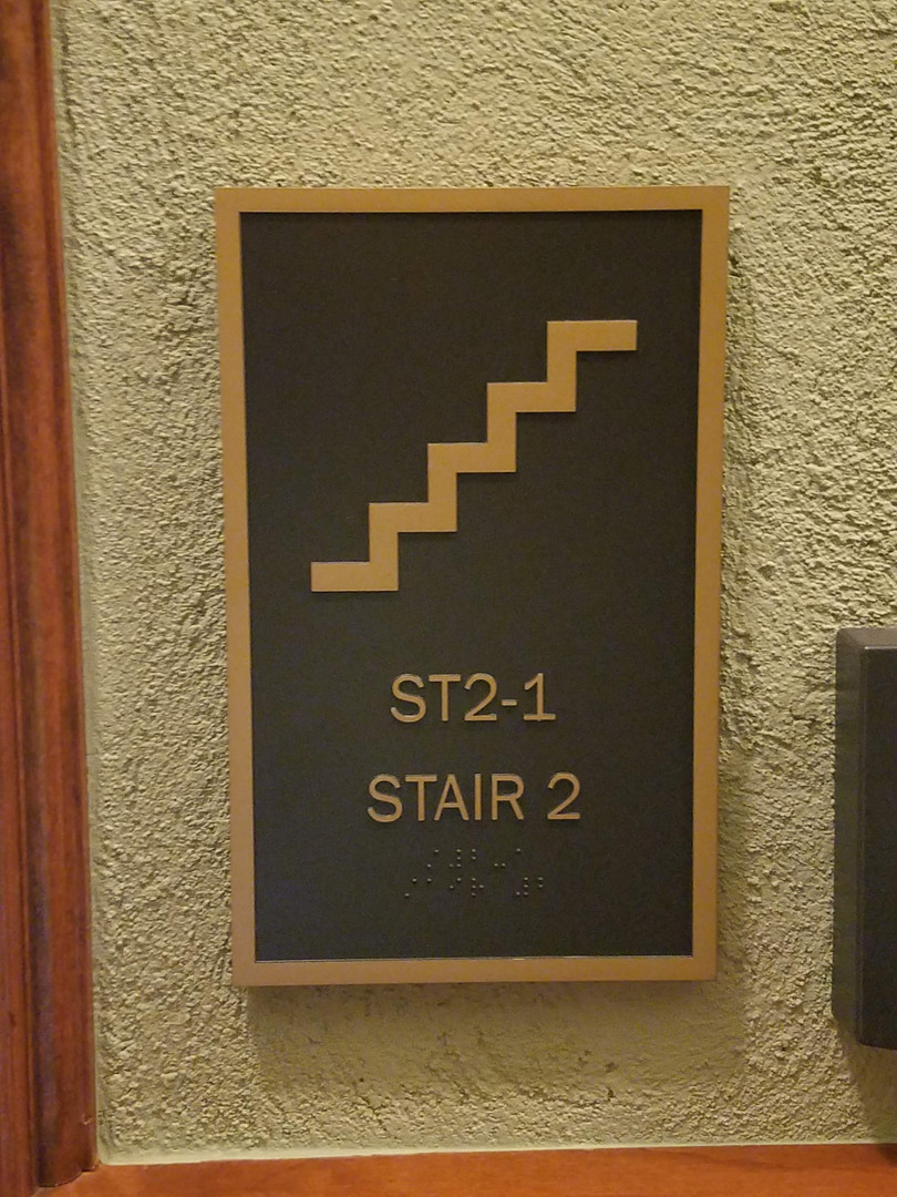 Stair signs, Wyoming State Capitol Cheyenne WY