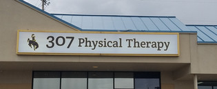 illuminated sign casper, physical therapy