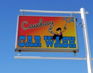 illuminated sign, car wash-douglas wyoming