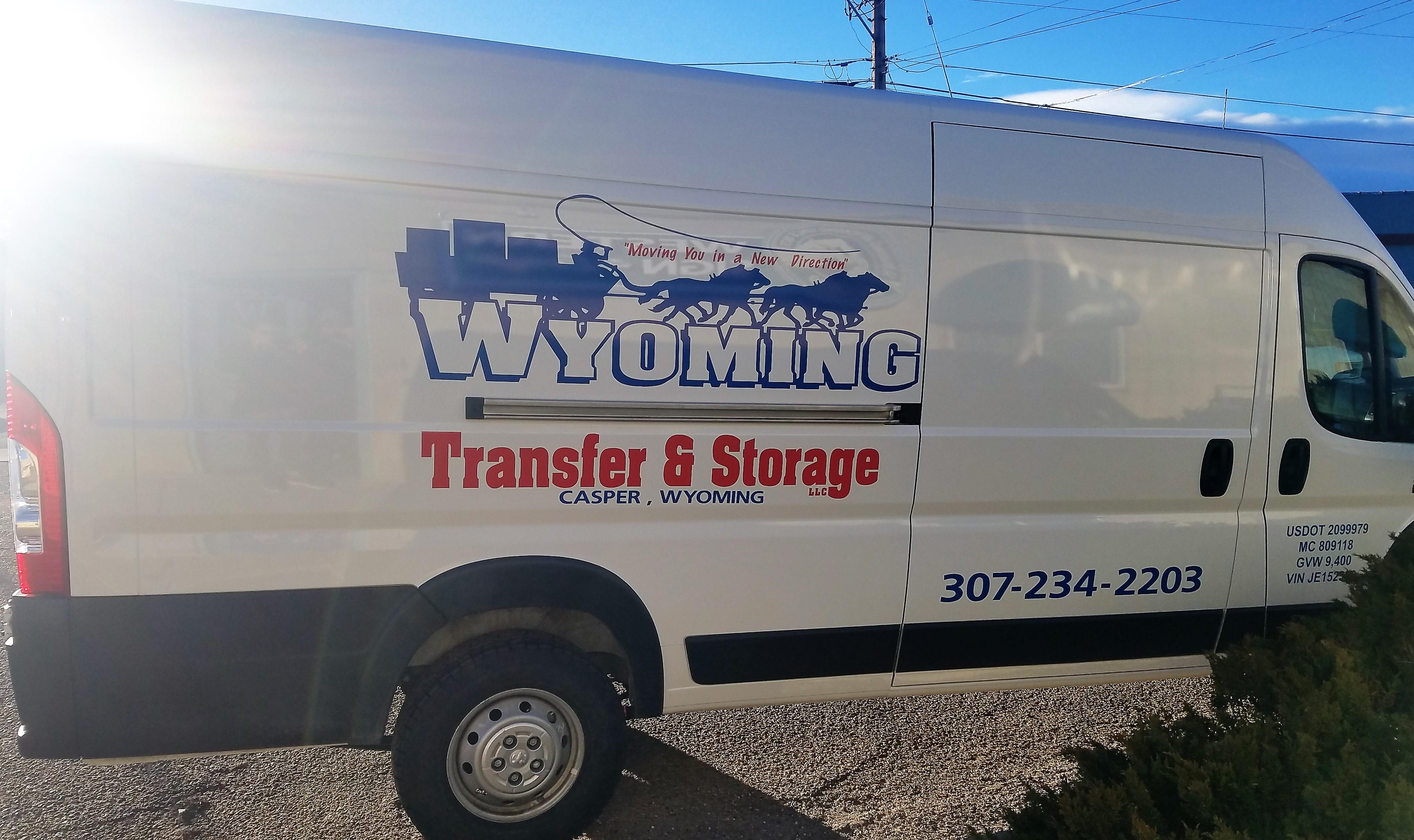 van decals, logo. casper wyoming. moving company