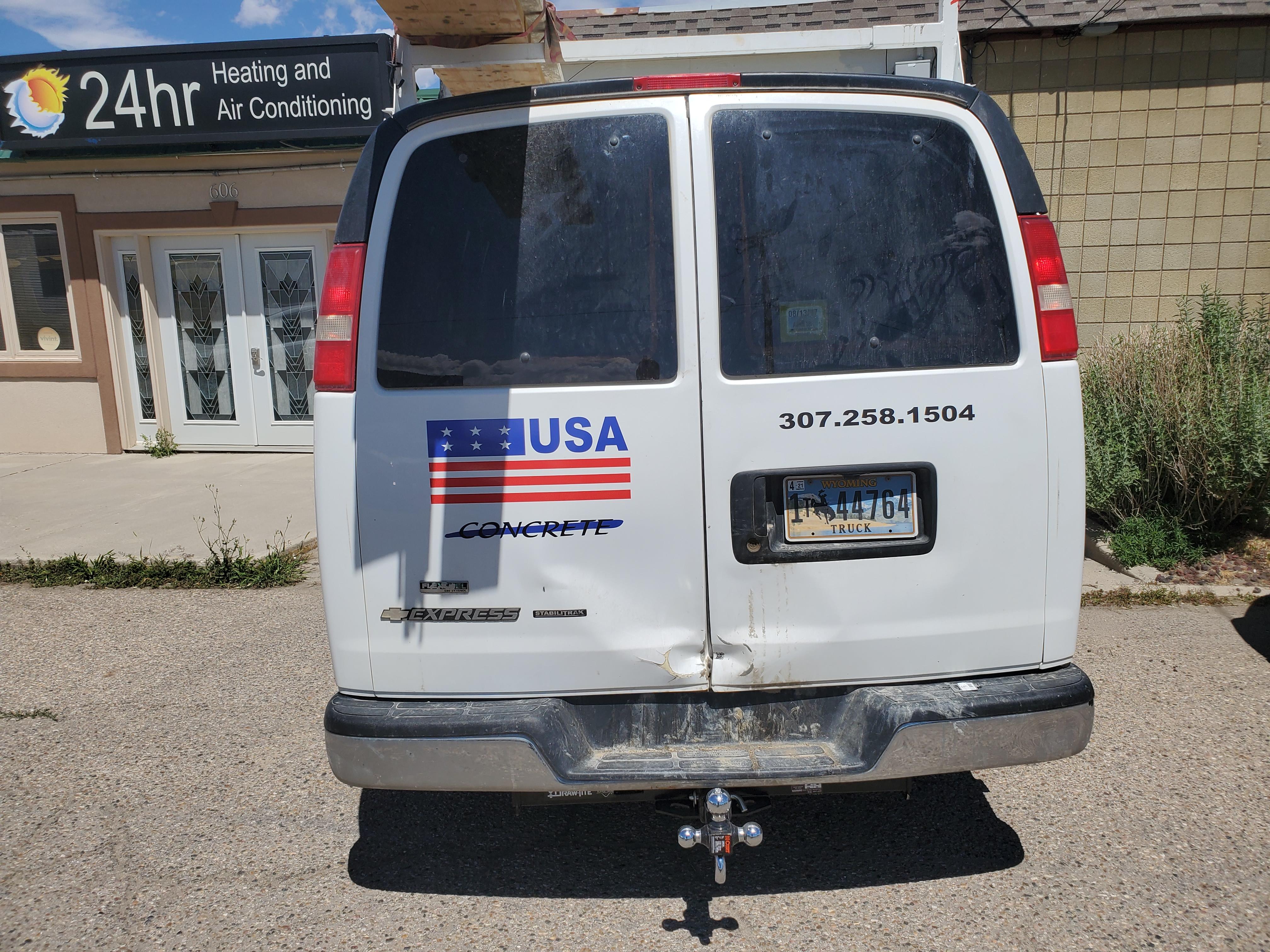 vehicle decals, concrete company, casper wyoming