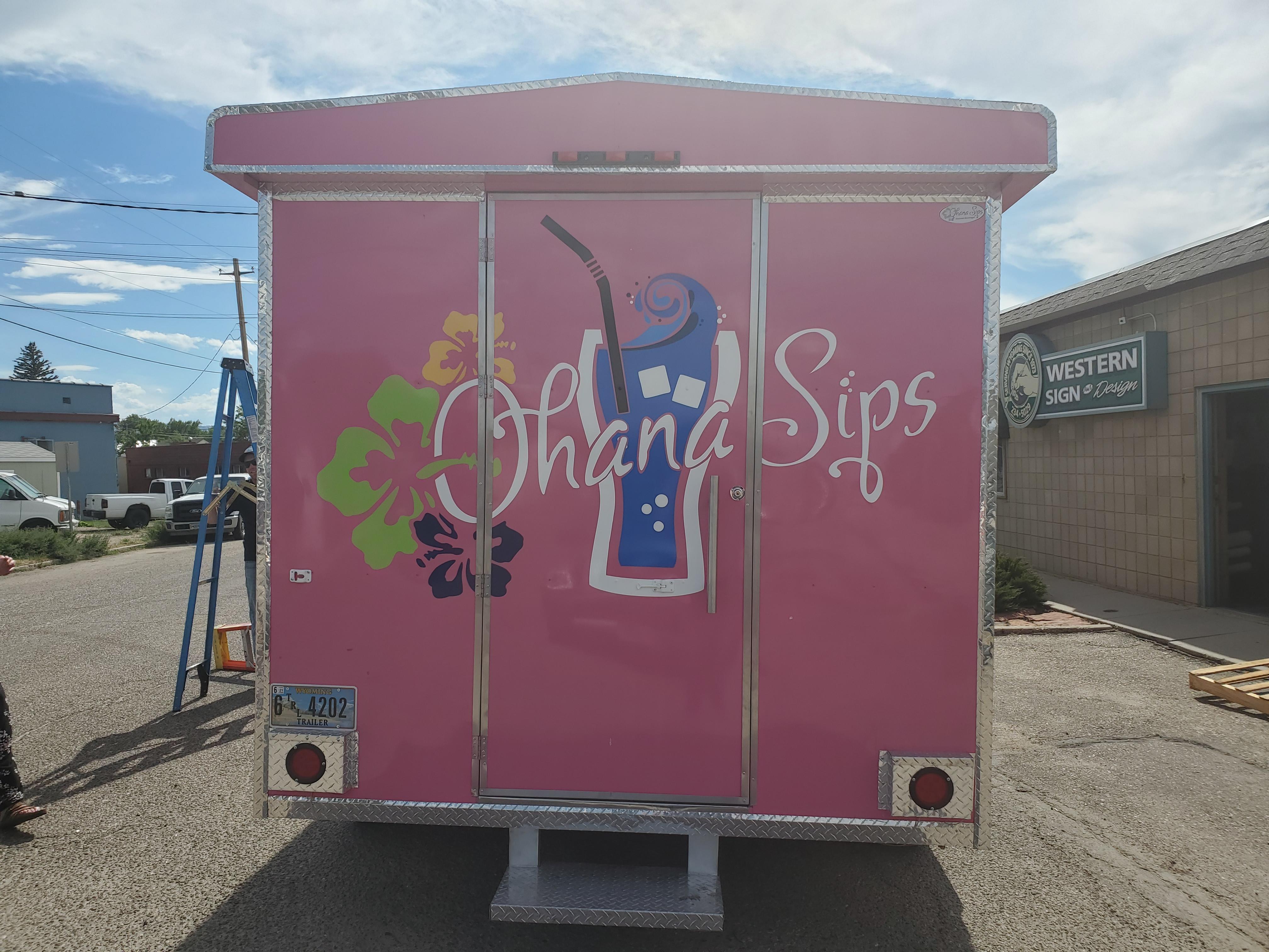 Food truck trailer decals, wyoming