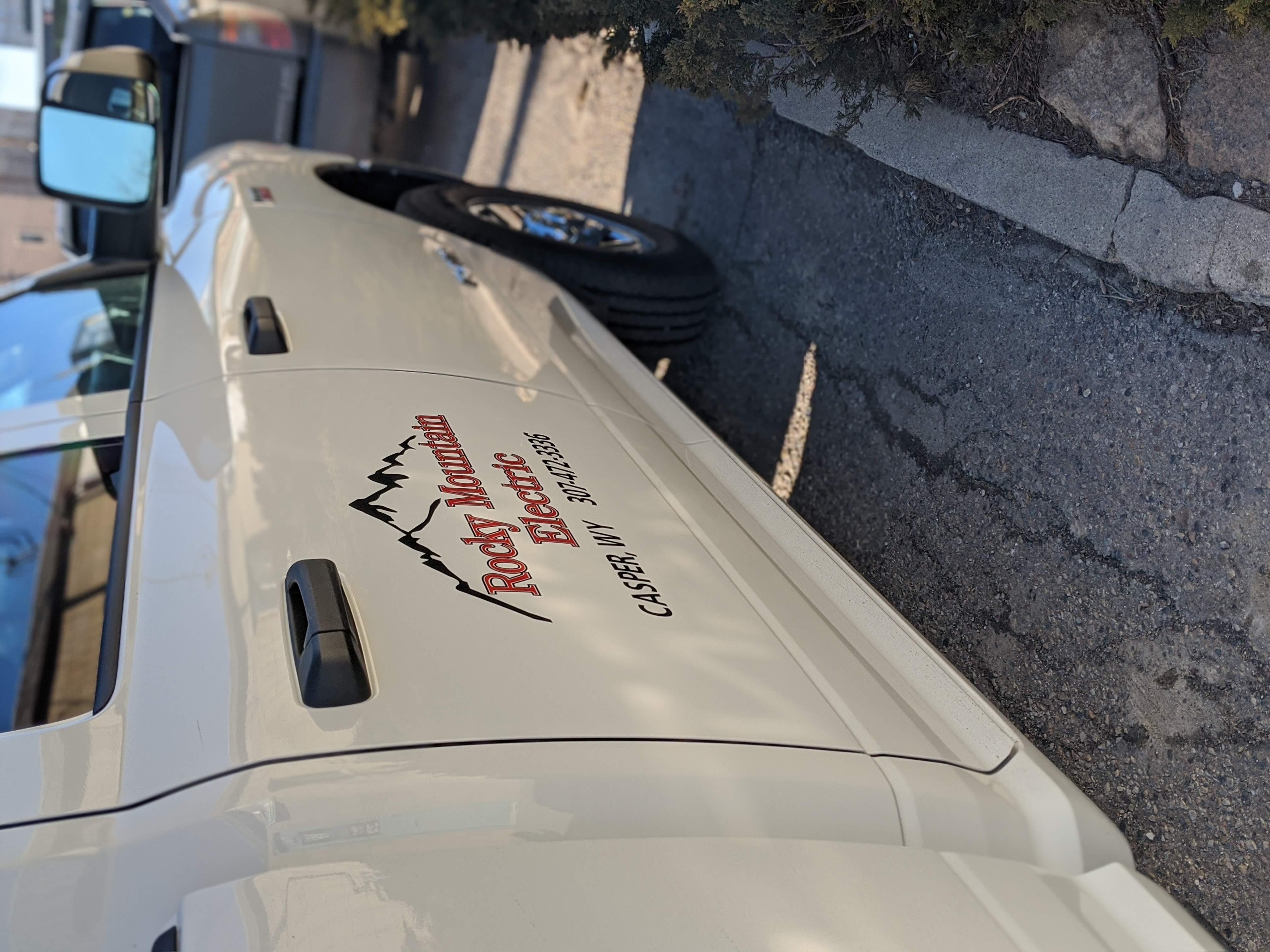 truck decals, electric company casper wy