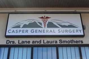 illuminated sign-casper, doctors office