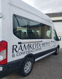 van decals, hotel and conference center, casper wy