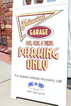 parking a frame sign casper wyoming
