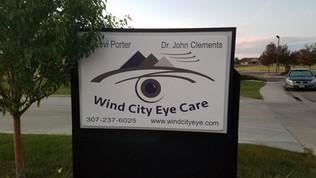 illuminated sign casper, eye doc