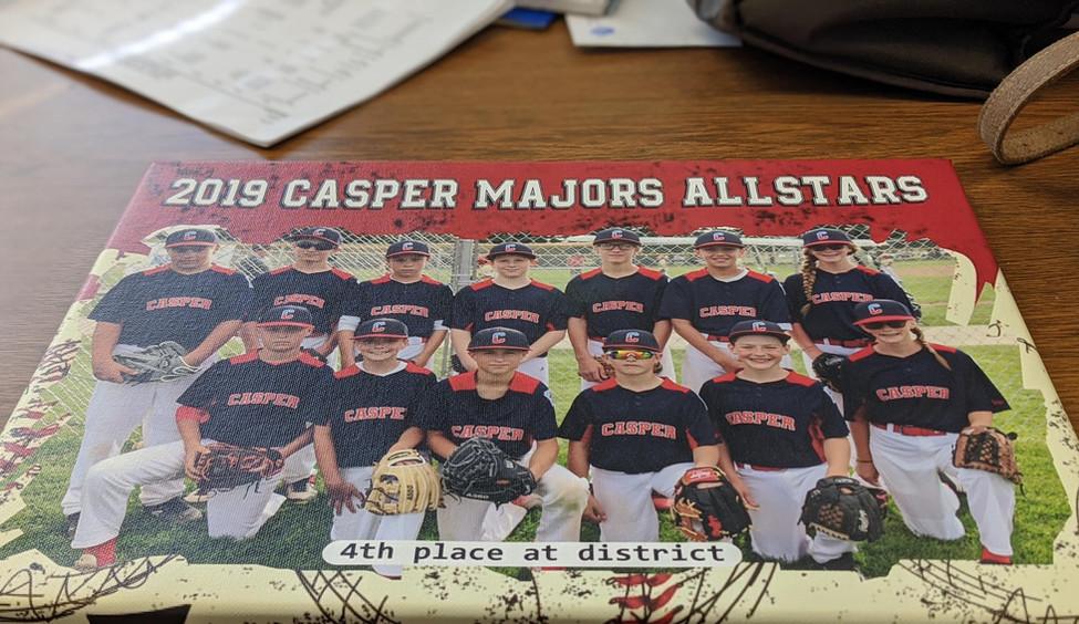 baseball canvas casper wy