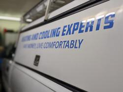 Truck decals, new company name, HVAC
